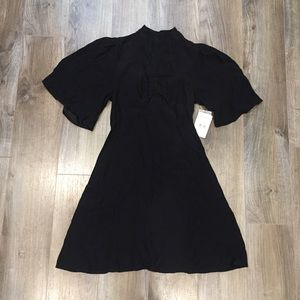 Free People Be My Baby Ruched Front Black Dress